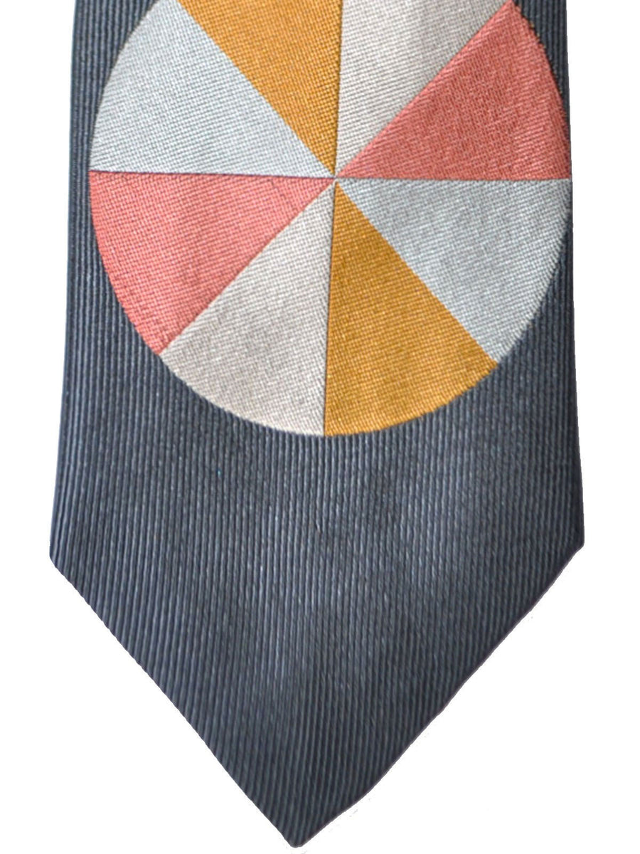 Gene Meyer Silk Tie Gray Circle SALE