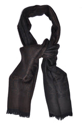 Gianfranco Ferre Scarf Brown Black GF - FINAL SALE