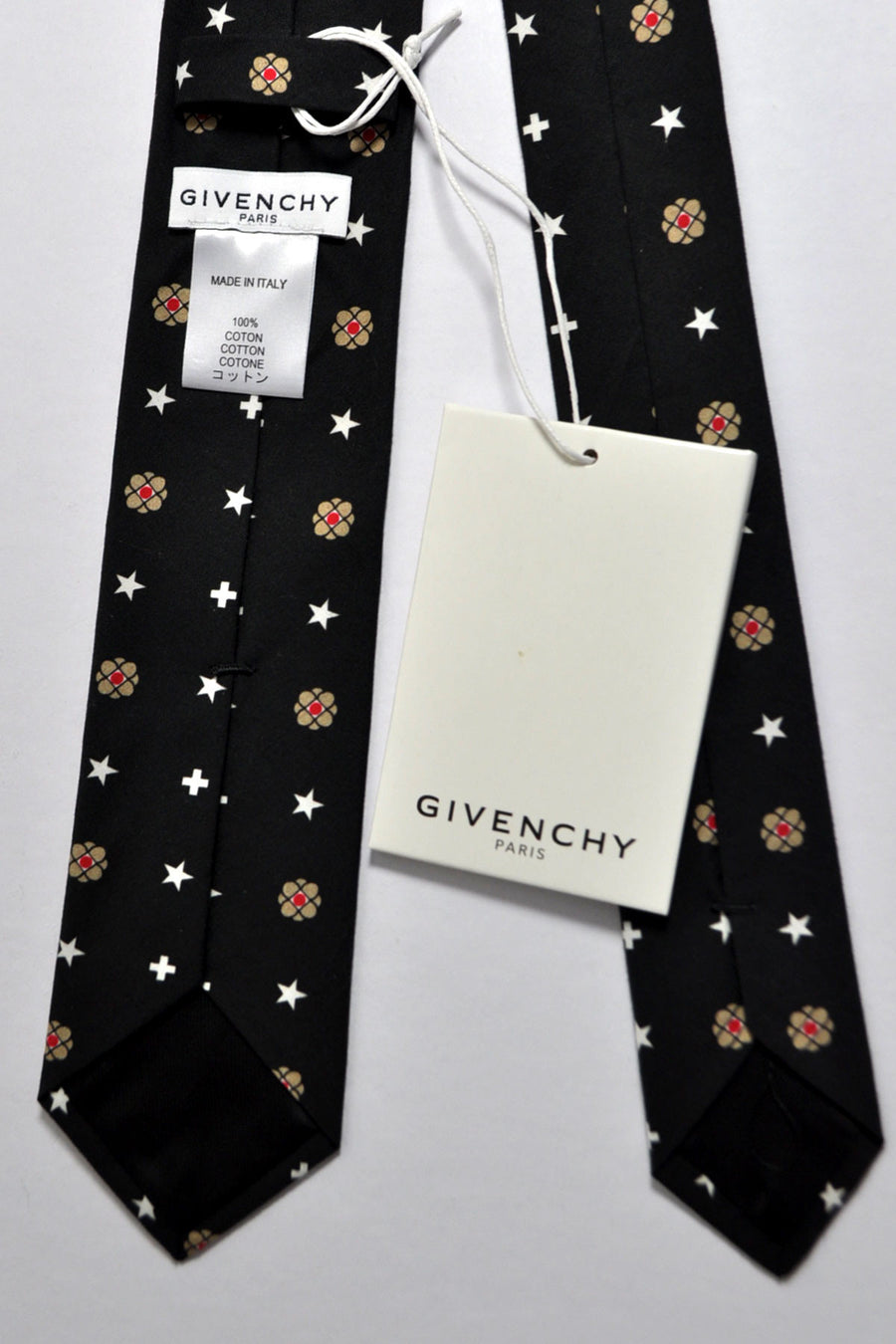 Givenchy Tie Black Signature Print - Narrow Cut