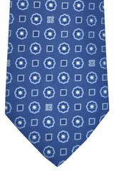 Givenchy Tie Navy Sky Blue Geometric