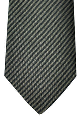 Givenchy Tie Dark Brown Gold Stripes