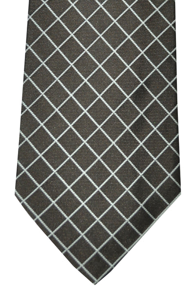 Givenchy Tie Brown Silver Geometric