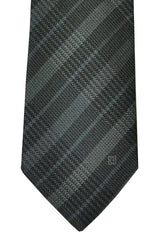 Givenchy Narrow Tie Gray Black Stripes