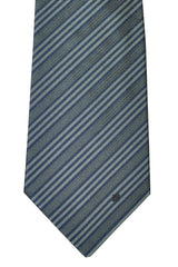 Givenchy Narrow Tie Gray Midnight Blue Stripes