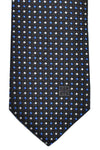 Givenchy Tie Black Royal Blue Silver Geometric Narrow Cut