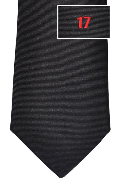 Givenchy Tie Black Red 17 Design - Narrow Cut