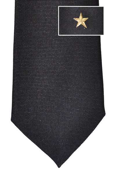 Givenchy Tie Black Gold Star Grosgrain Design - Narrow Cut