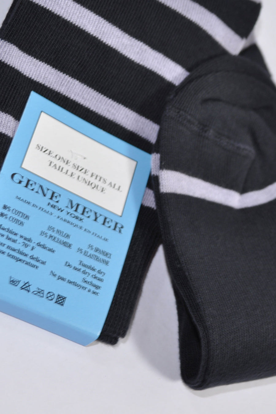 Gene Meyer Socks Black Lilac