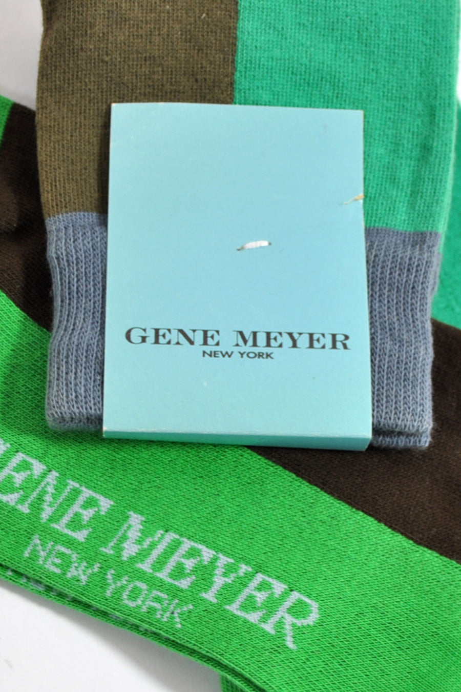 Gene Meyer Socks Green Brown Gray - Made In Italy