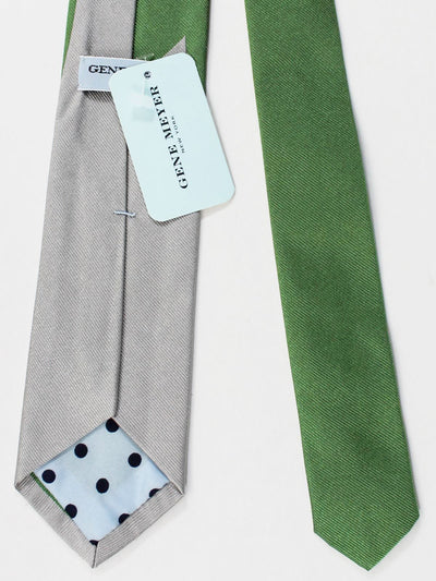Gene Meyer Tie Unique Green Gray Design FINAL SALE