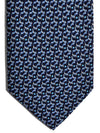 Salvatore Ferragamo Tie Navy Blue Golf Clubs Design