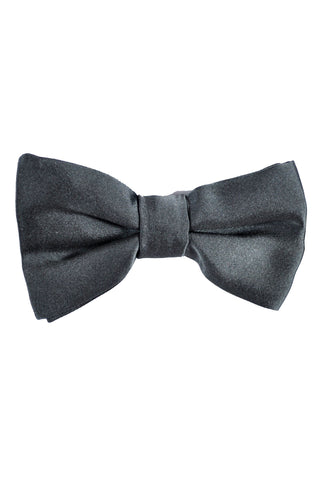 Valentino Bow Tie Solid Gray Pre-Tied - FINAL SALE