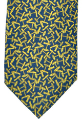 Gucci Tie Navy Yellow Design