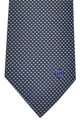 Gucci Tie Purple Lilac Silver Geometric Design