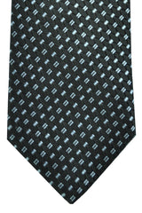 Gucci Tie Black Sky Blue Gray Geometric