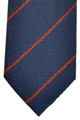 Gucci Tie Navy Red Blue Stripes
