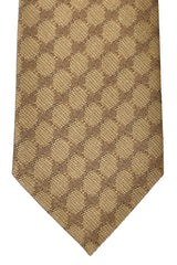 Gucci Tie Taupe Gold Logo - New Collection