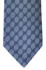 Gucci Tie Midnight Blue Logo - New Collection