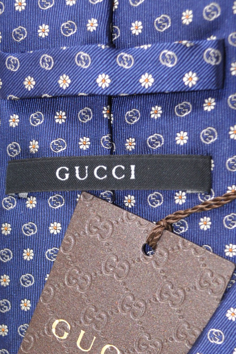 Gucci Tie Navy Floral - New Collection
