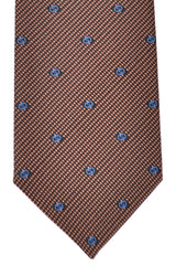 Gucci Tie Brown Navy Geometric New 2015/ 2016 Collection