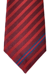 Gucci Necktie Red Burgundy Stripes