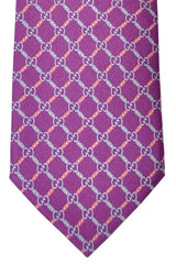 Gucci Necktie Purple Silver GG Logo New 2016 Collection
