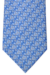 Gucci Tie Sky Blue Blue Geometric Design