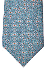 Gucci Tie Taupe Green Gray Geometric Design