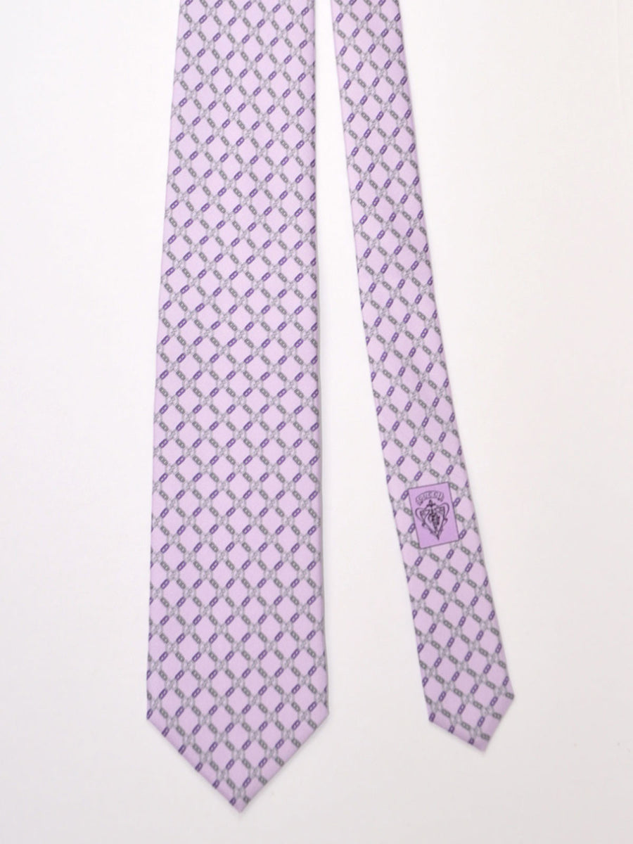 Gucci Tie Lilac GG Pattern