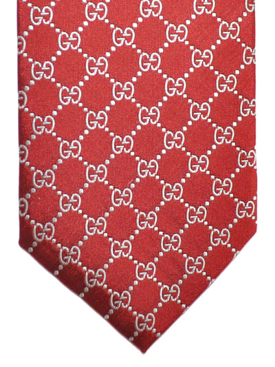 Gucci Tie Burgundy Gray GG Pattern
