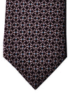 Gucci Tie Brown Pink Blue Geometric Design