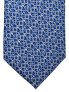 Gucci Silk Tie Blue Silver Geometric Design