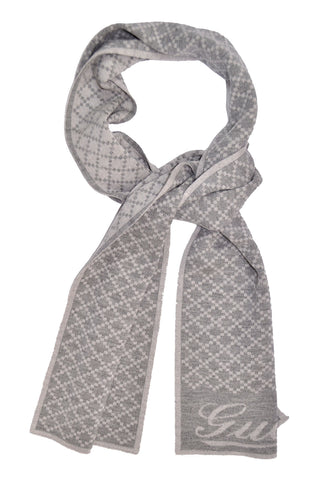 Gucci Scarf Gray Signature Wool Scarf