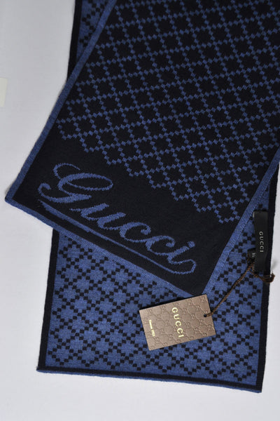 Gucci Wool Scarf Midnight Blue