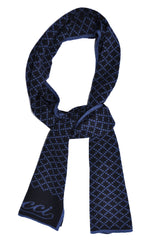 Gucci Wool Scarf Midnight Blue GG Design