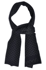 Gucci Scarf Gray Black Signature