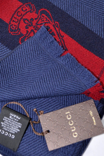 Deal Gucci Scarf Midnight Blue Crest