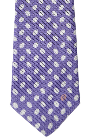 Gucci Tie Purple White-Silver Ovals - New Collection FINAL SALE