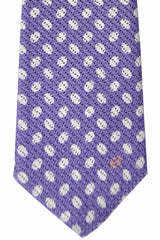 Gucci Tie Purple White-Silver Ovals