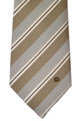 Gucci Tie Taupe Stripes Narrow Necktie FINAL SALE
