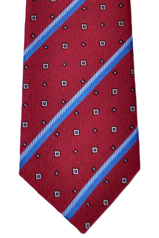 Gucci Tie Red Blue Stripes Men Designer Necktie