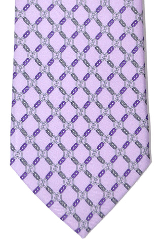 Gucci Tie Lilac Purple GG Design
