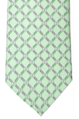 Gucci Tie Mint Green GG Design