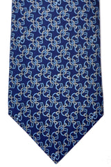 Gucci Tie Navy Blue Horsebit