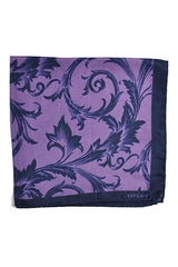 Versace Pocket Square Purple Baroque