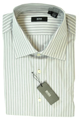 Hugo Boss Dress Shirt Gray White Stripes 17 - 34/35