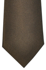 Hugo Boss Tie Brown Black Horizontal Stripes