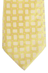 Hugo Boss Tie Gold Pink Geometric