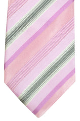 Hugo Boss Tie Pink Gray Stripes