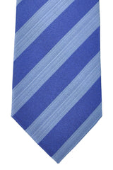Hugo Boss Tie Royal Blue Silver Stripes - Narrow Tie